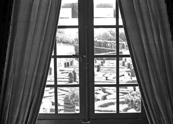 Uitzicht uit landhuis