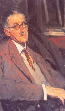 James Joyce door Jacques Emile Blanche, 1934, olieverf op canvas