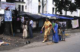 Wonen op straat in Bombay