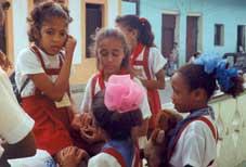 Schoolkinderen in Havana.