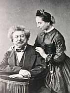 Schrijver Alexandre Dumas met zijn dochter