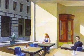 Sunlight in cafetaria.